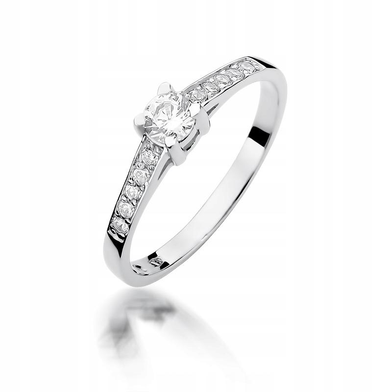 Prsteň biele zlato, DIAMANTY, 0.44 ct !!!!!
