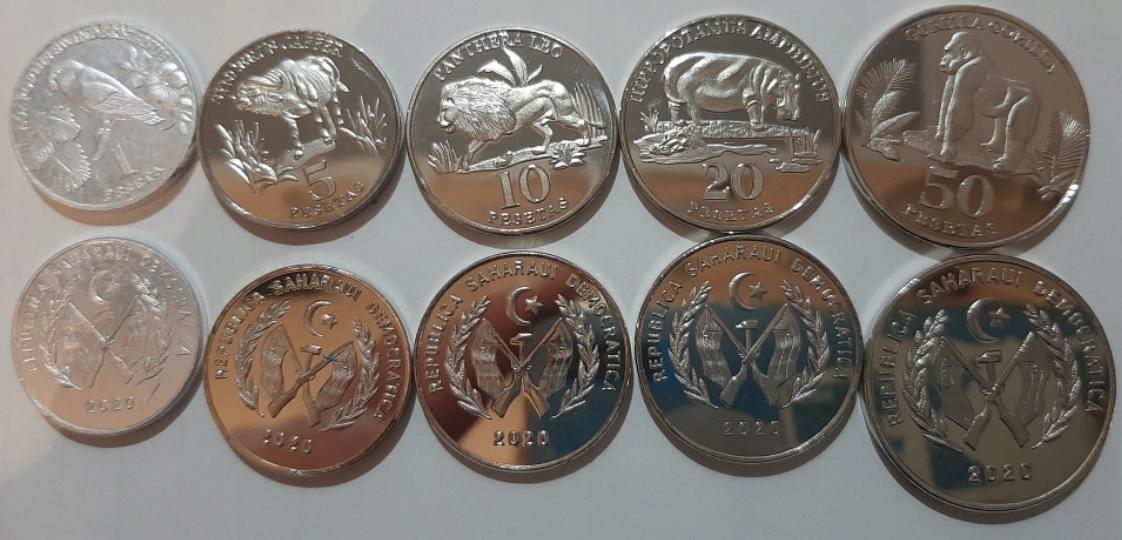 SAHARAWI SAHARA ZACHODNIA zestaw 5 monet 2020