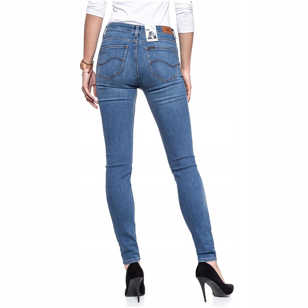 Lee Scarlett High Spodnie Damskie Jeansowe W30 L35