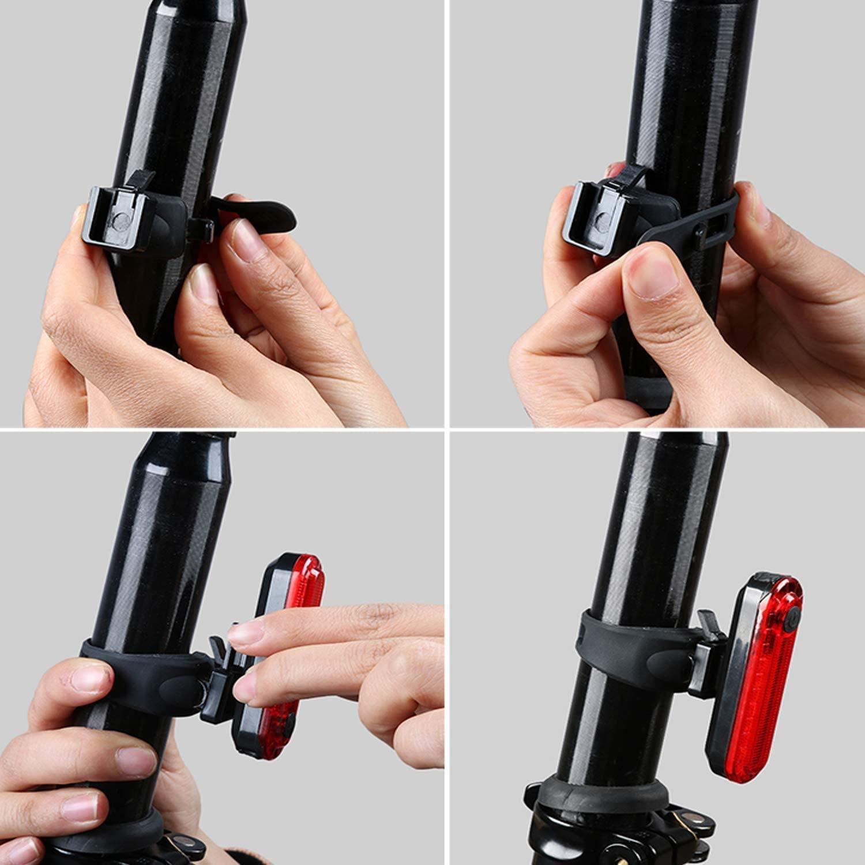 2 szt LAMPKA ROWEROWA LED zestaw TYŁ PRZÓD na USB Zasilanie akumulator