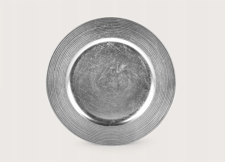Podtalerz plastikowy ozdobny 33cm - srebrny