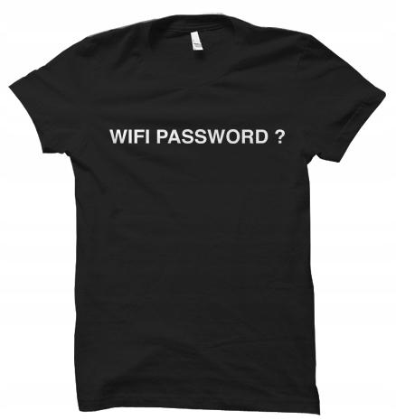 Wifi Password prezent koszulka t-shirt damskaXXL