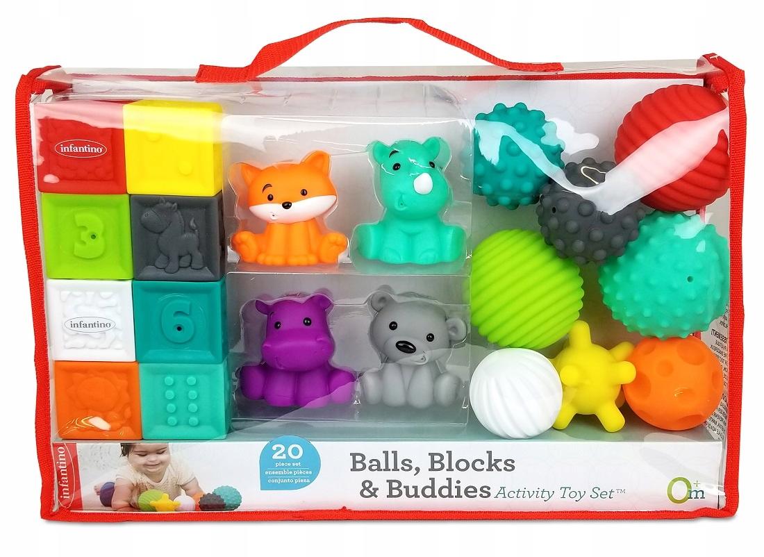 Infantino Sada mäkkých blokov, loptičiek a figúriek