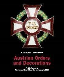 Österreichs Orden und Ehrenzeichen, Teil II