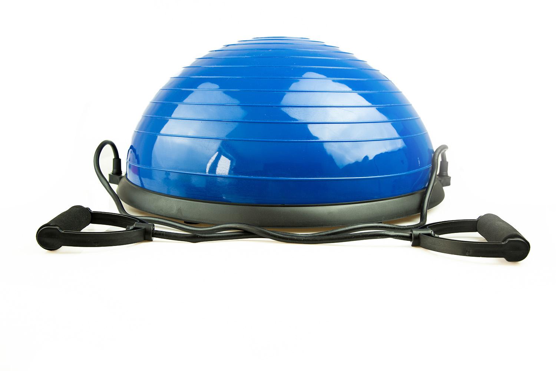 Trener równowagi półpiłka platforma linki + pompka Kolor dominujący niebieski
