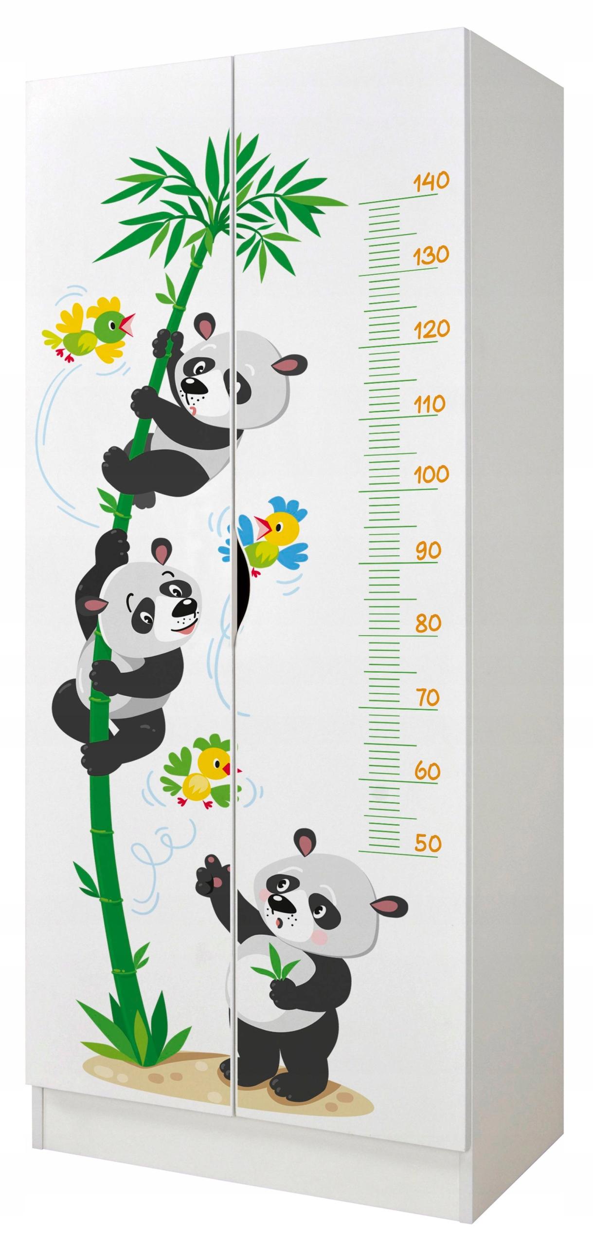 Гардероб Panda Bears в действии, с рулеткой 70x42,5x161,5