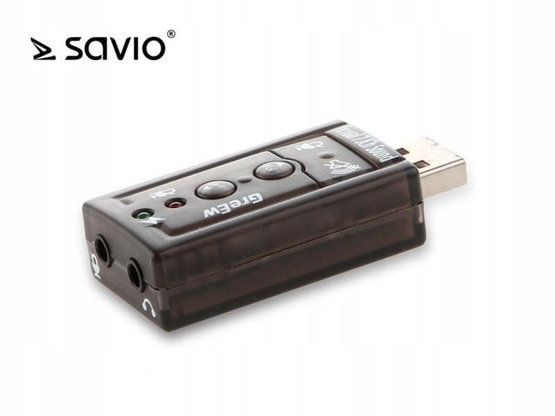 Купить Звуковая карта SAVIO AK-01 USB 7.1 ,, &, на Otpravka - цены и фото - доставка из Польши и стран Европы в Украину.