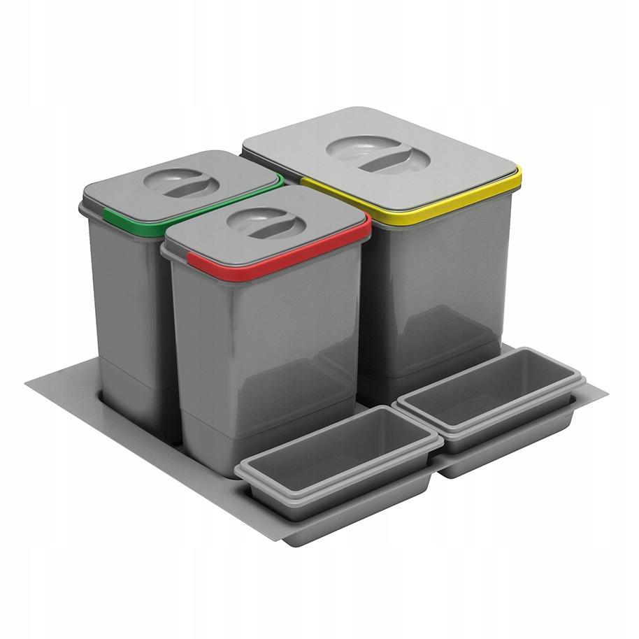 Kosz na śmieci, sortownik wkład do 600 3 pojemniki