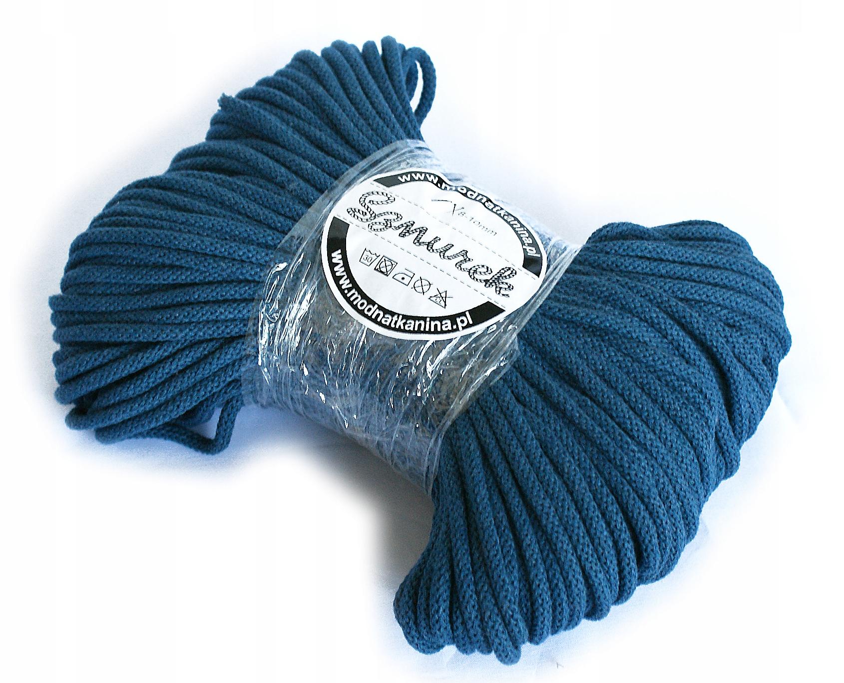 Шнур хлопковый 5мм - длинный 100м - разные цвета