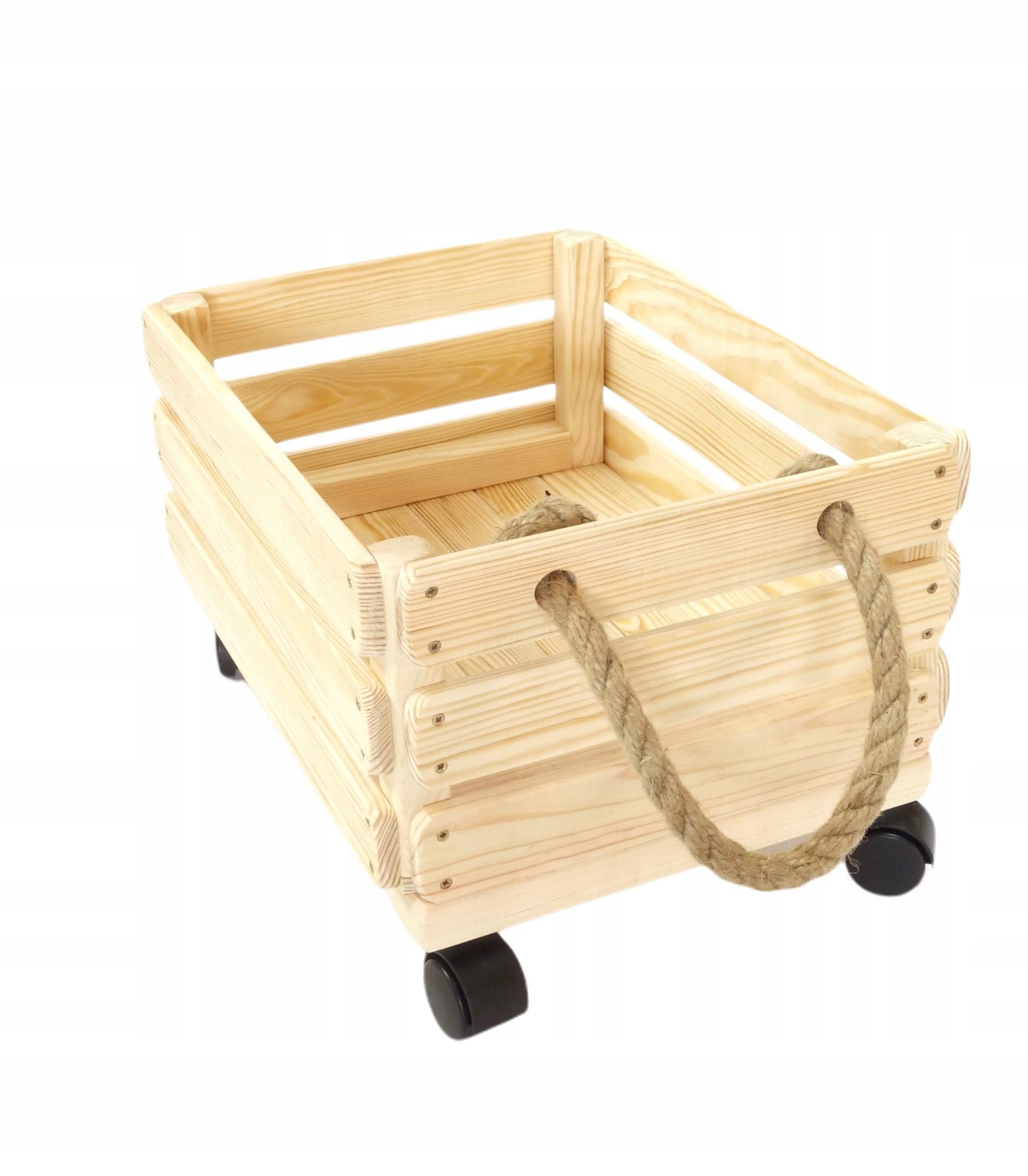 Деревянный ящик для игрушек, тара полированная.