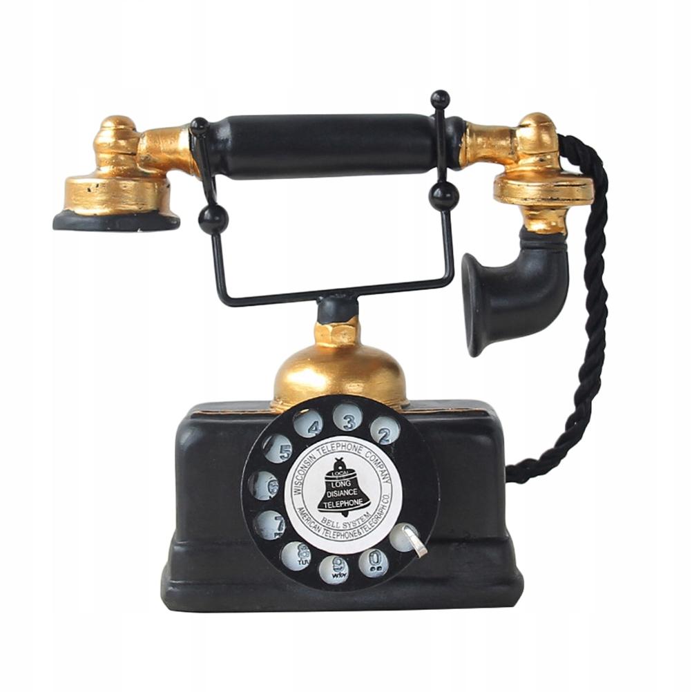 Kreatívny retro dekoratívny telefón Vintage