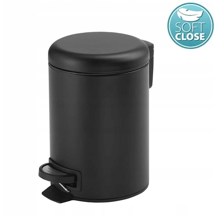 Kúpeľňový odpadkový kôš Gedy black mat 5L
