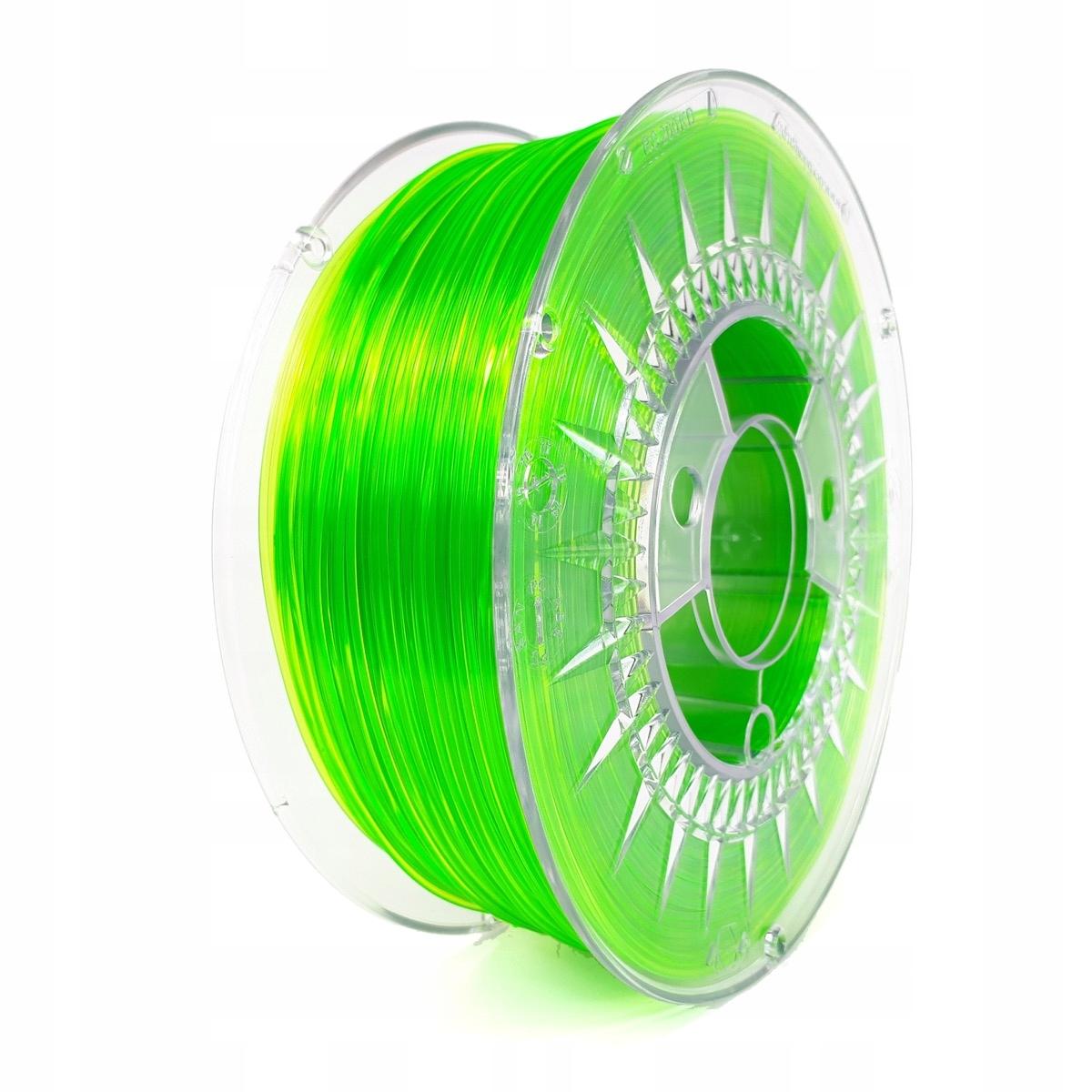 PETG 1.75 svetlo zelené transparentné DD + liquid