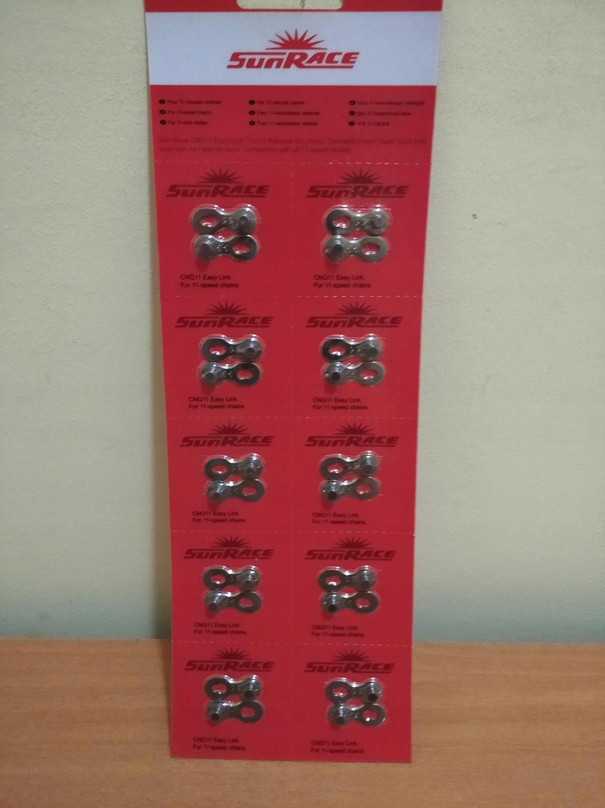 Купить ЗАКОЛКА-ЙОРК разъем Звено SUNRACE 11RZ CNQ11SREBRNA на Eurozakup - цены и фото - доставка из Польши и стран Европы в Украину.