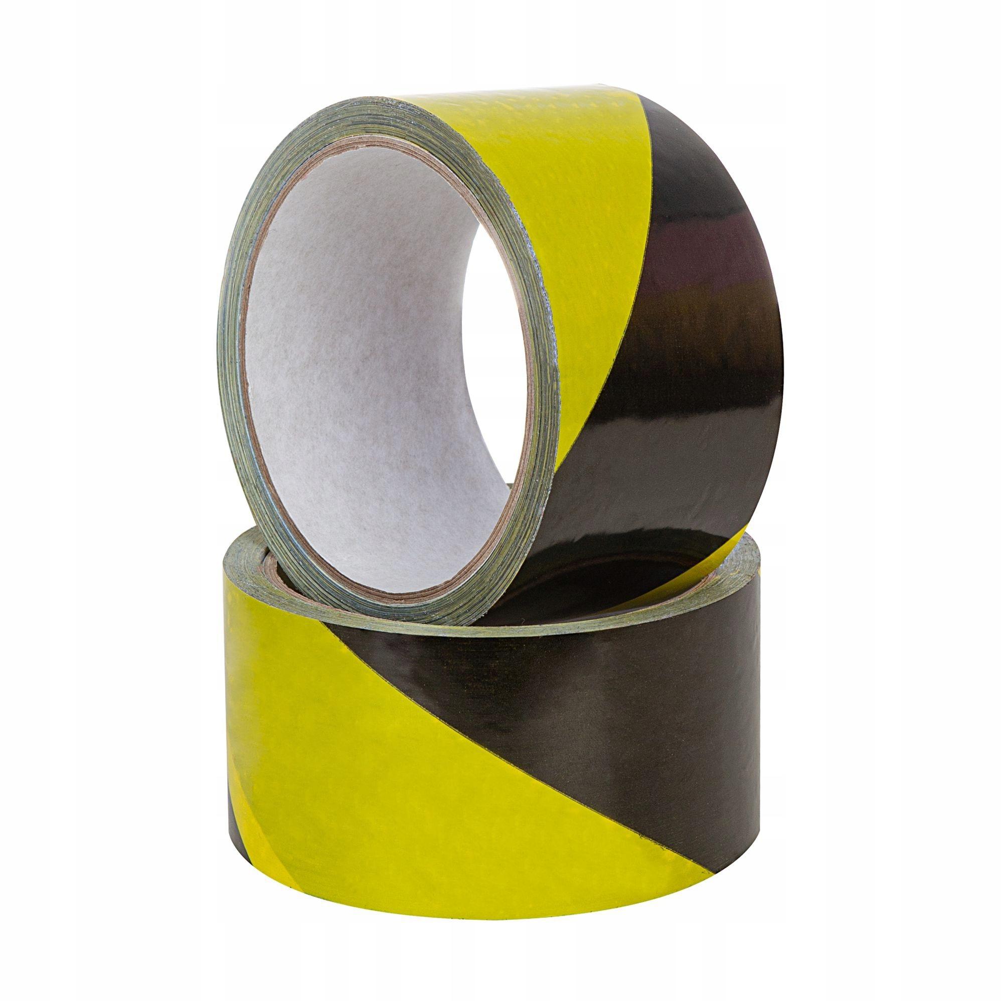 EuroTape 48/33m желто-черная предупреждающая лента