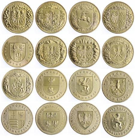 Seria monet 2 zł - Herby Województw (16 szt)