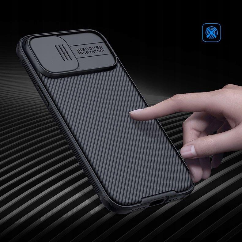 Etui Nillkin z osłoną aparatu do iPhone 12 Pro Max Kolor czarny