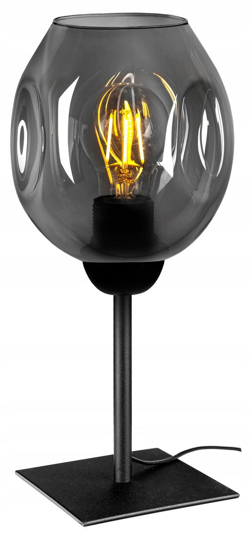 Loftová retro sklenená lampa na nočný stolík - FIBRAM