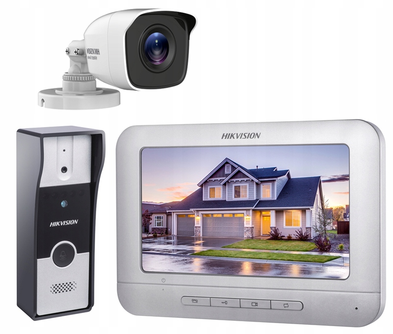 WIDEODOMOFON DOMOFON VIDEO HIKVISION IR + KAMERA