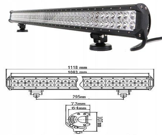 лампа рабочая планка панель led 288w комбо 1118mm