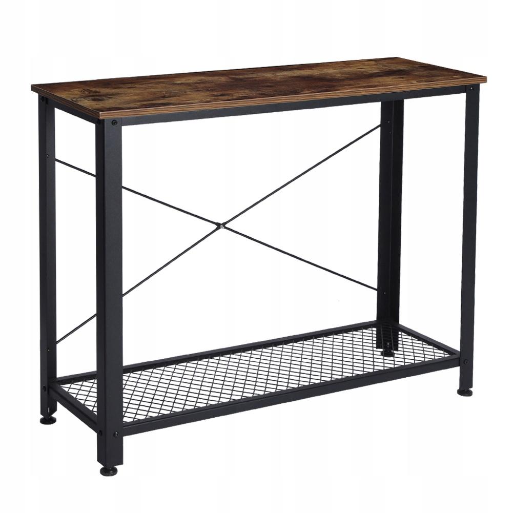 Retro LOFT stôl dvojvrstvový