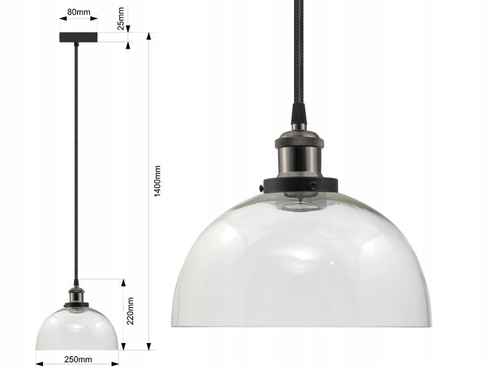 LAMPA SUFITOWA SZKLANA VASO UX ŻYRADNOL LED LOFT B Pomieszczenie Jadalnia Kuchnia Pokój dziecięcy Salon Sypialnia Uniwersalne
