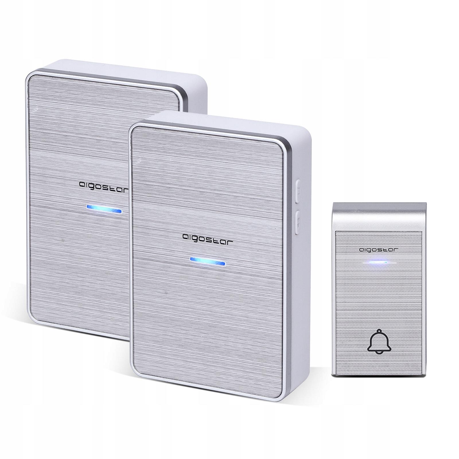 Беспроводные дверные звонки 1-кнопочные 2-DC приемники