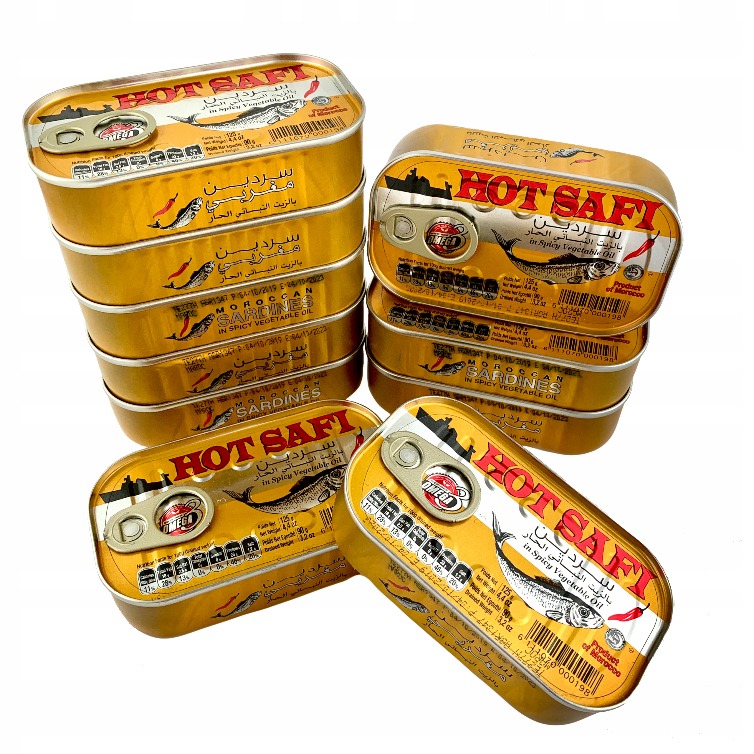 Item 10 x MOROCCAN SARDINES WITH chilli IN OIL 125g
