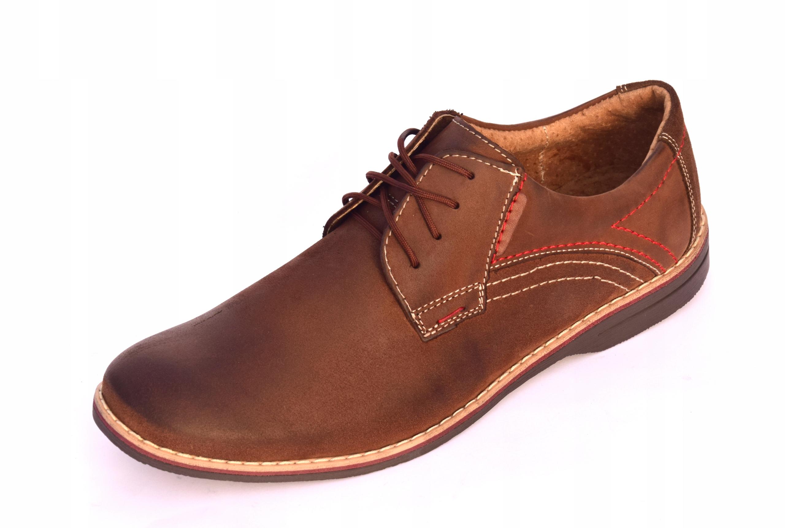 Buty męskie brązowe obuwie skórzane polskie 242 Marka inna