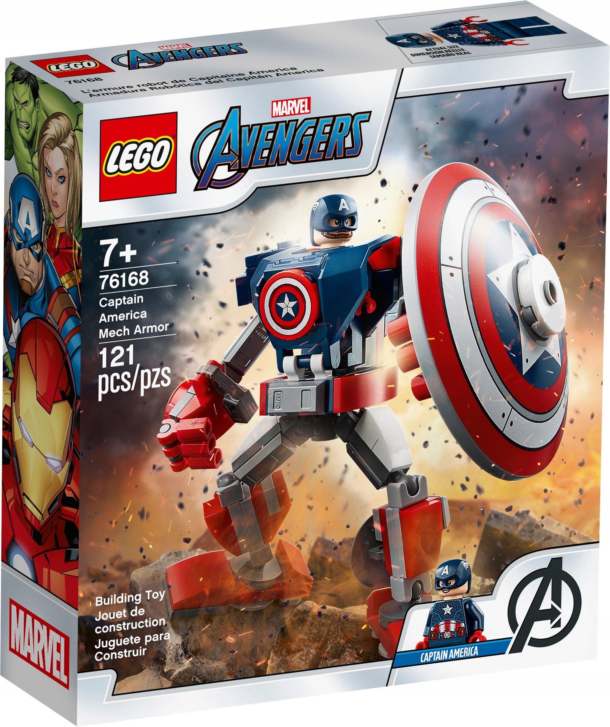 LEGO MARVEL AVENGERS Мех Капитана Америки 76168