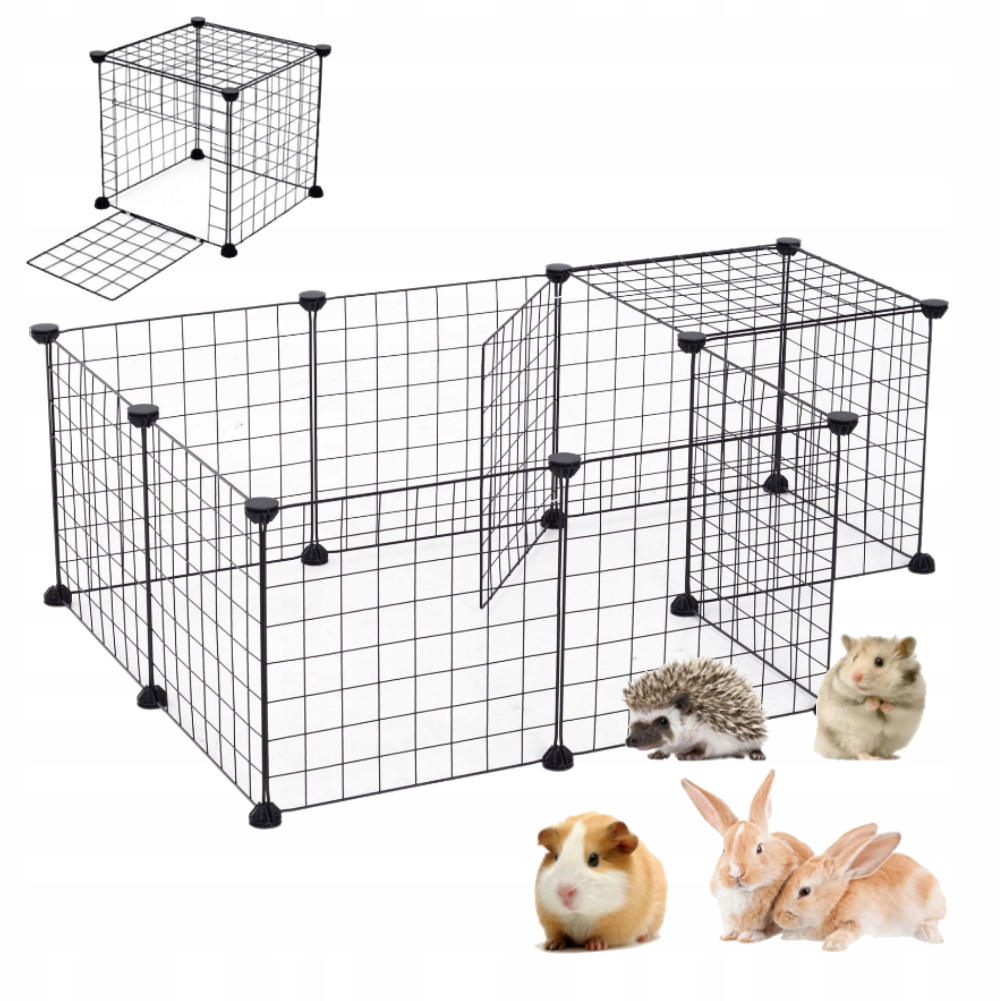 Маленькая металлическая клетка для собак