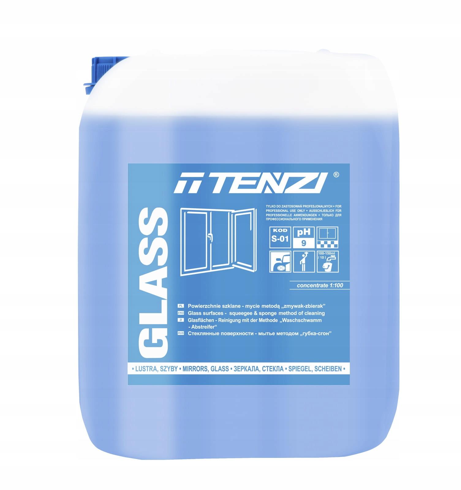 TENZI Top GLASS - Mycie szyb luster Koncentrat 10L