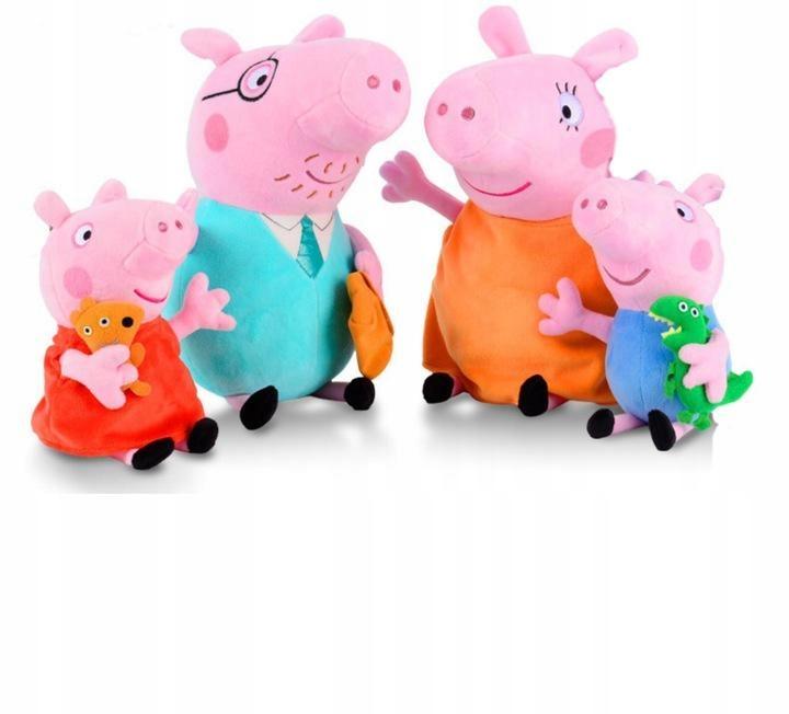 Peppa Pig celá rodinná plyšová hračka s maskotom 30/19 cm
