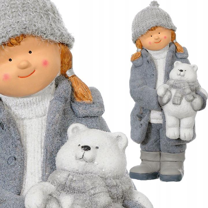 ДЕВУШКА с мишкой Тедди керамическая фигурка XXL БОЛЬШАЯ