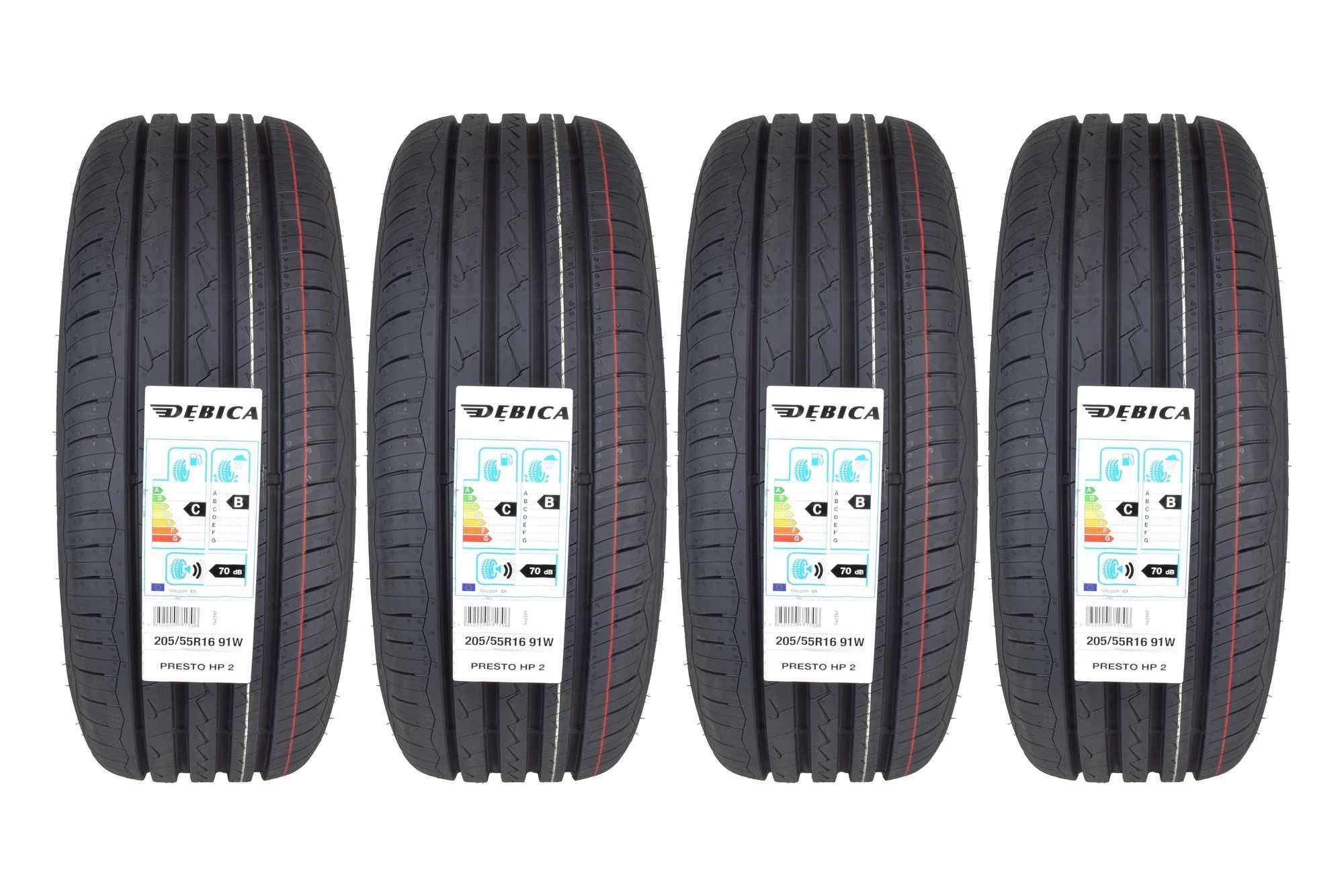 4 Шины 205 / 55R16 DĘBICA Presto HP2 New 2020