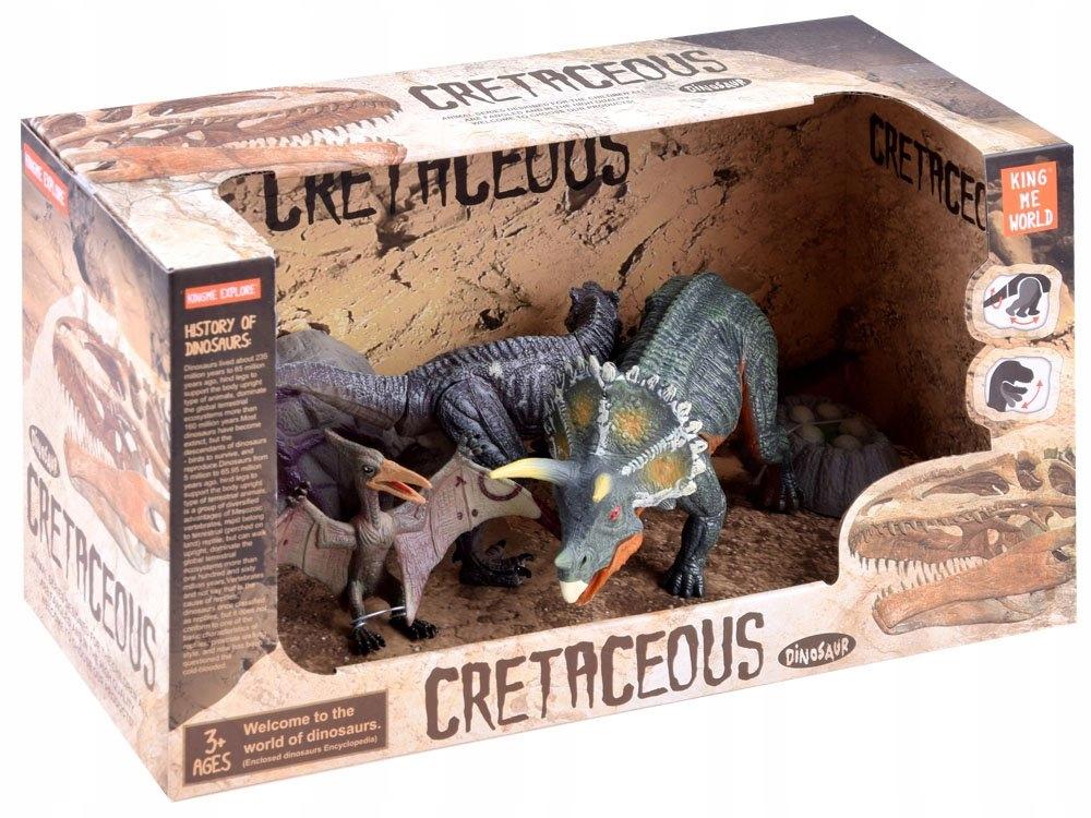 Zestaw dinozaury ręcznie malowane figurki ZA3422 Materiał Plastik
