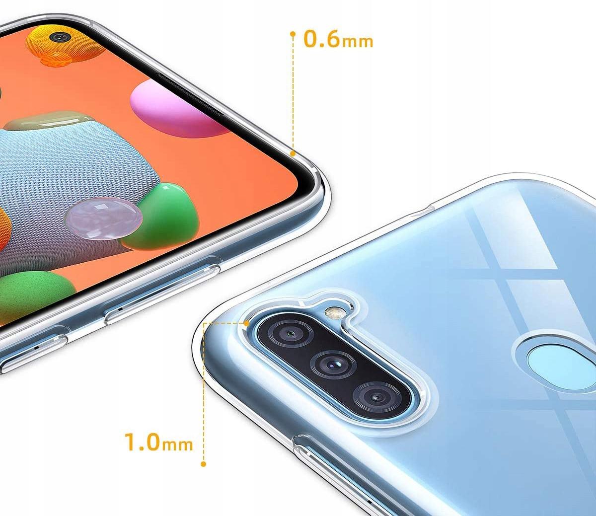 Etui do Samsung Galaxy M11 Clear Case Guma +Szkło Producent INNY
