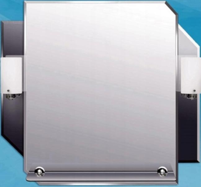 Kúpeľňové zrkadlo s poličkou a osvetlením 4 GBP