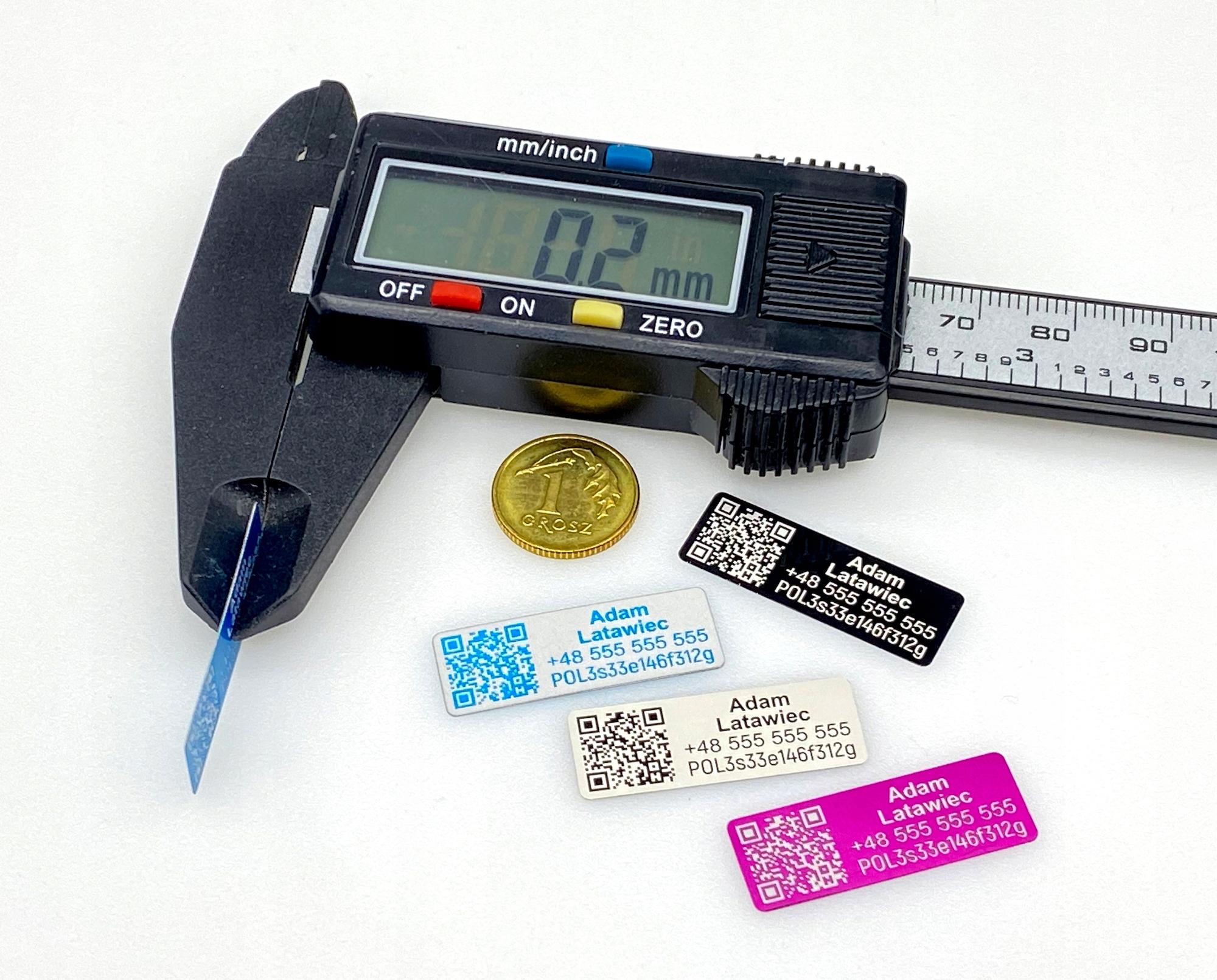 Tabliczka operator drona - aluminium - jakość PRO
