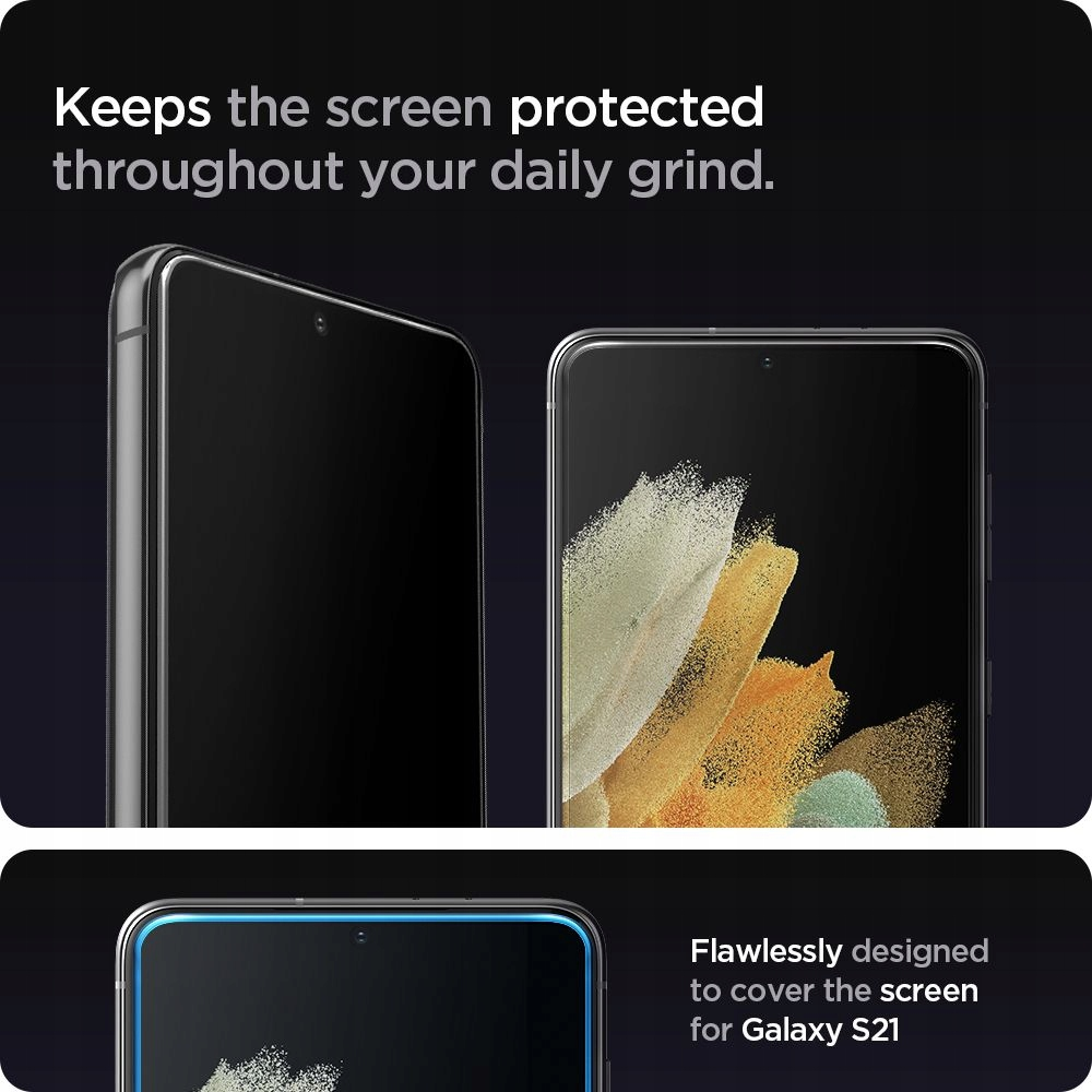 2x Szkło Hartowane Spigen do Galaxy S21 Plus 5G Rodzaj szkło hartowane