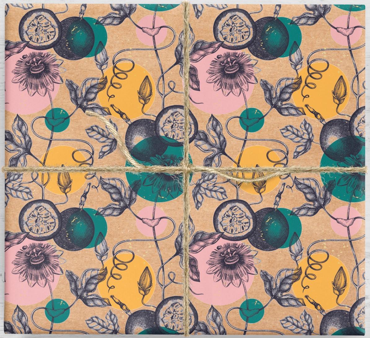 Darčekový baliaci papier Passion Fruit 10ark
