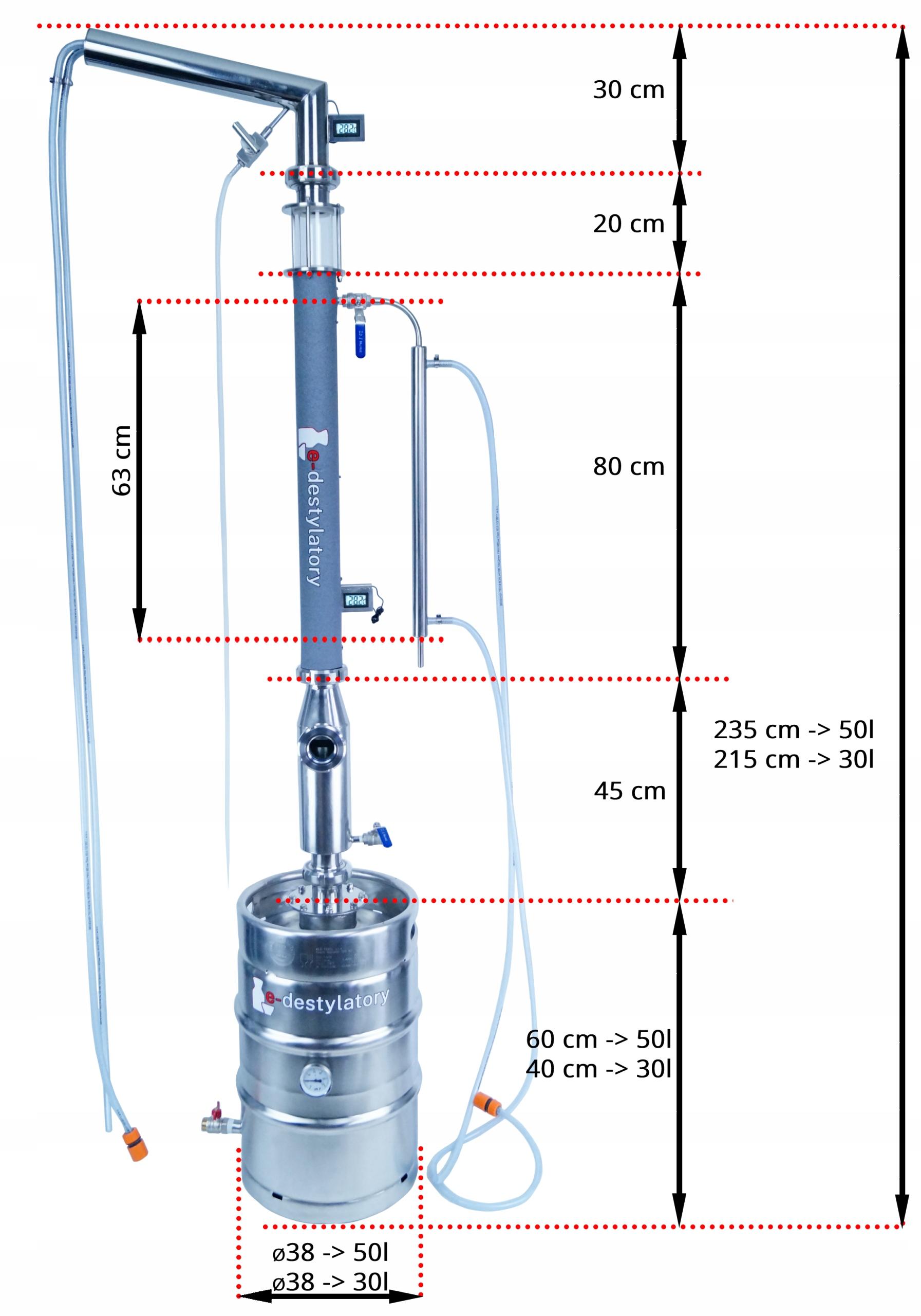 DESTYLATOR AABRATEK BUFOR OVM LIBIGA WIZJER GAZ Waga produktu z opakowaniem jednostkowym 30 kg