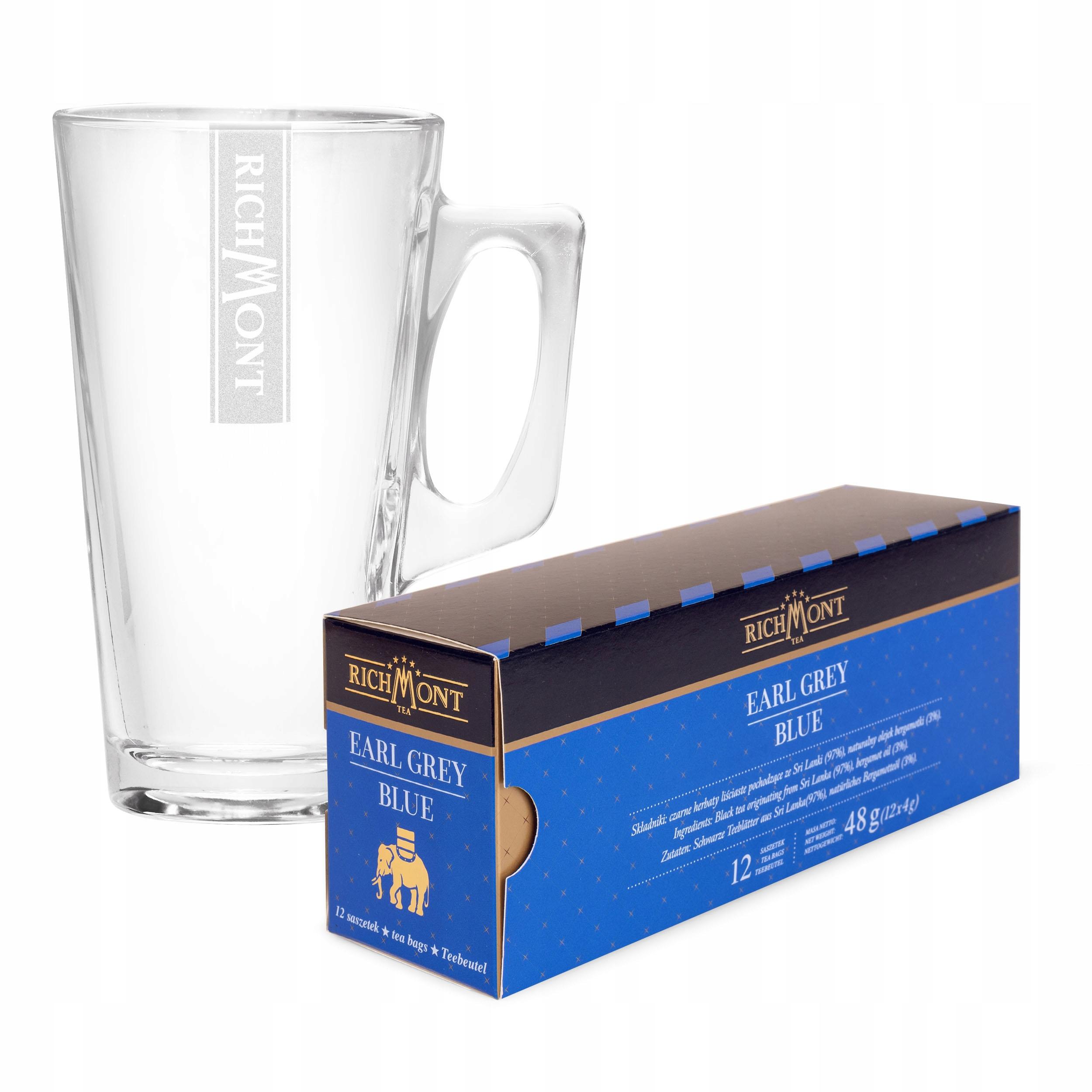 12 Чай Richmont Earl Grey Blue + ГОРЯЧИЙ стакан