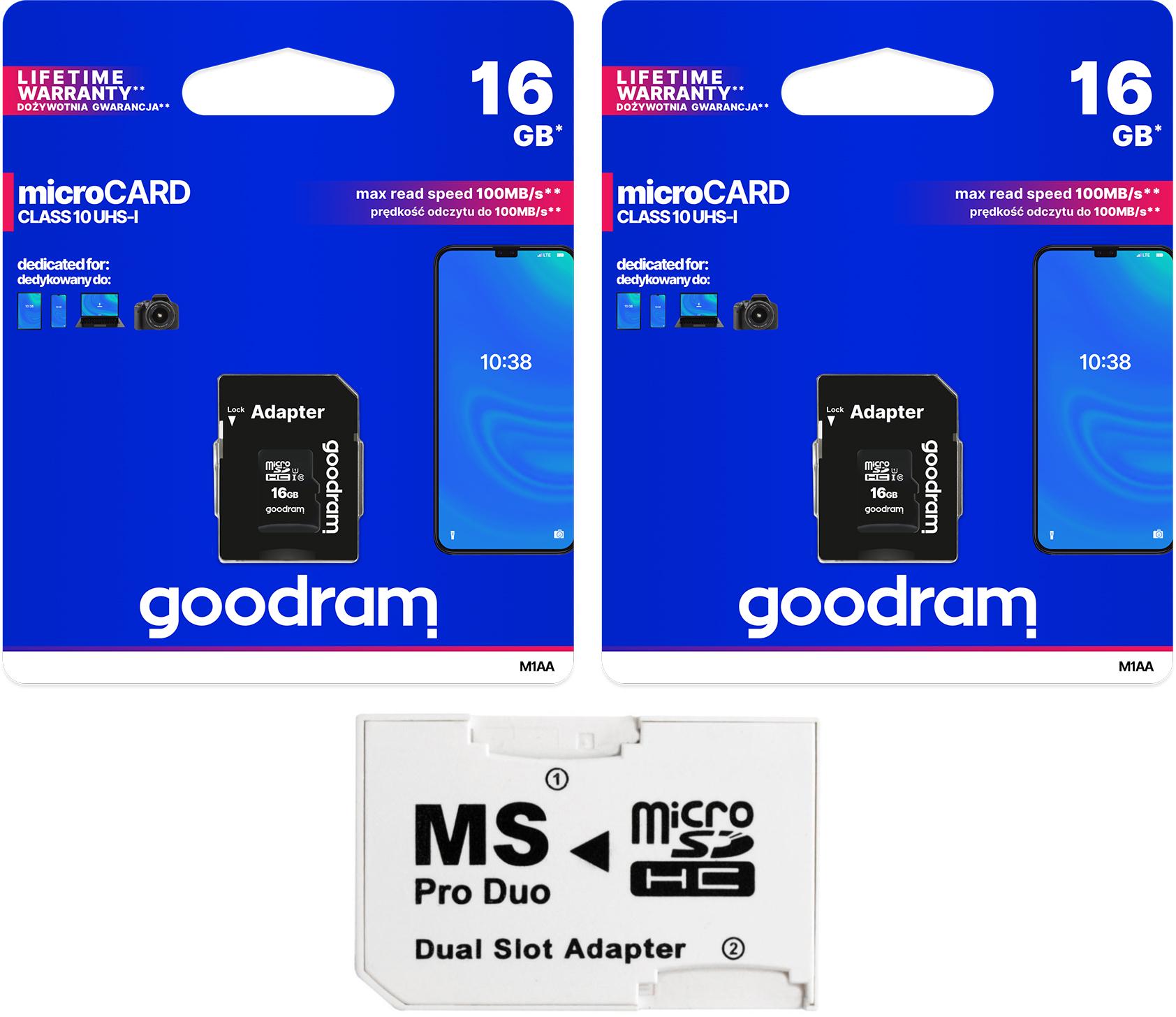 Adaptér MS PRO DUO + Goodram 32 GB Class10 Sony PSP