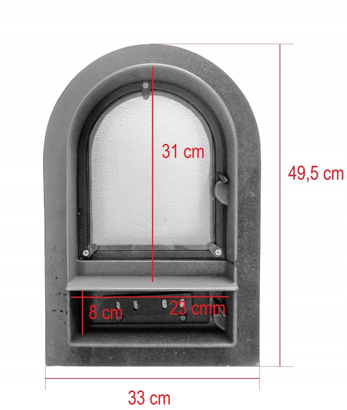 liatinové dvere do udiarne so sklom 49x33 Kód produktu liatinové DVERE so sklenenou pecou + popolník