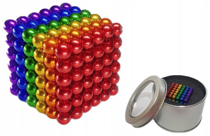 NEOCUBE MAGNETICKÉ KULIČKY 5mm 216 kusov + krabička