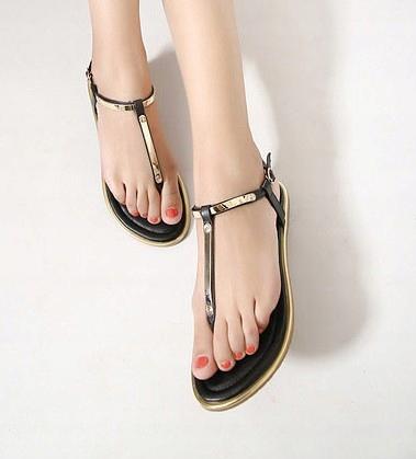 Moderné sandále ročníka, sandále, Papuče 39 zlaté