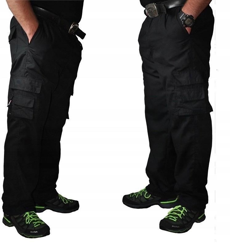 Купить Мужские брюки карго из плотной ткани черного цвета, размер ремня 115см. XXL на Otpravka - цены и фото - доставка из Польши и стран Европы в Украину.