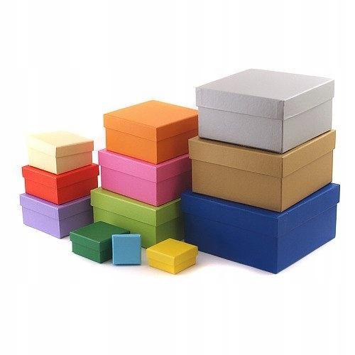 Квадратные декоративные подарочные коробки MIX 12 шт.