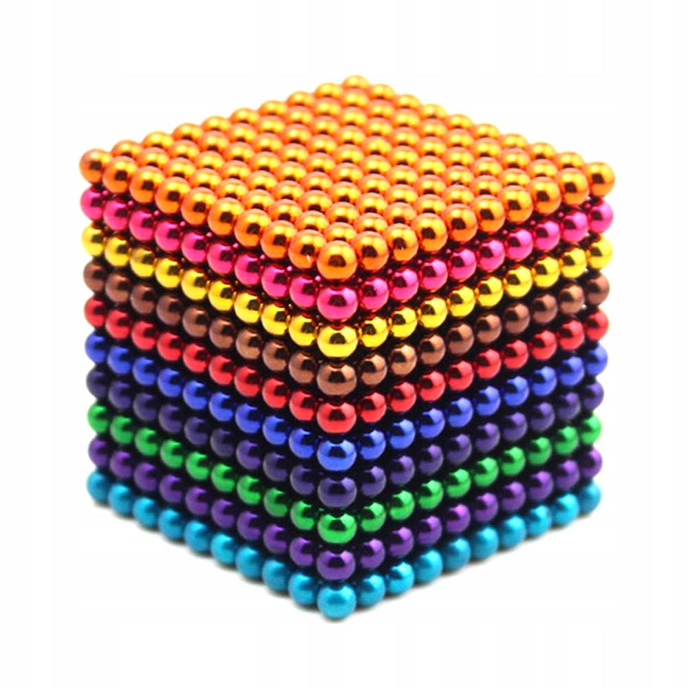 Dúhové magnetické gule! 1000 kusov 5 mm